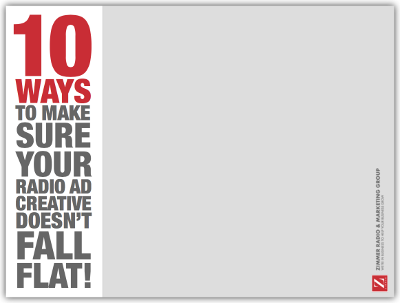 10 Ways To Make Sure Your Radio Ad Creative Doesn't Fall Flat!