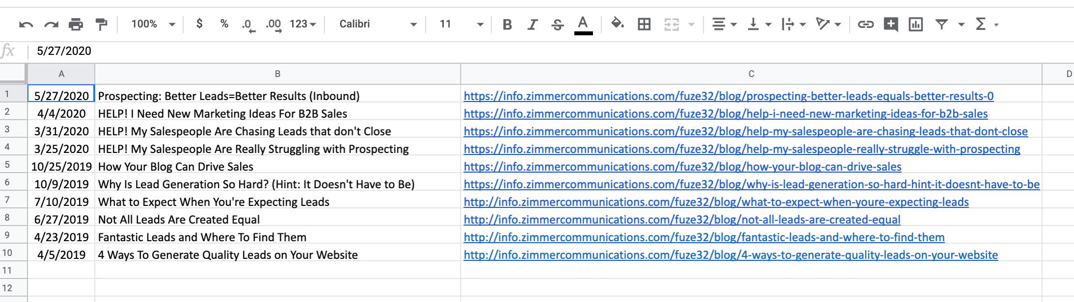 Content List