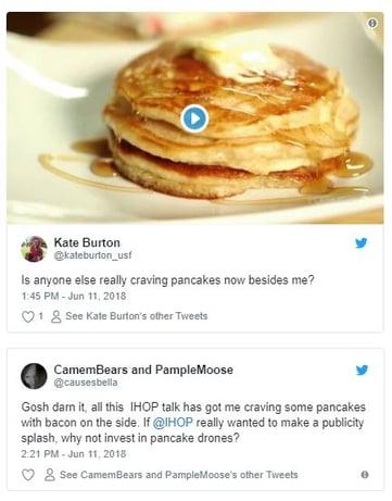 Pancake Tweets