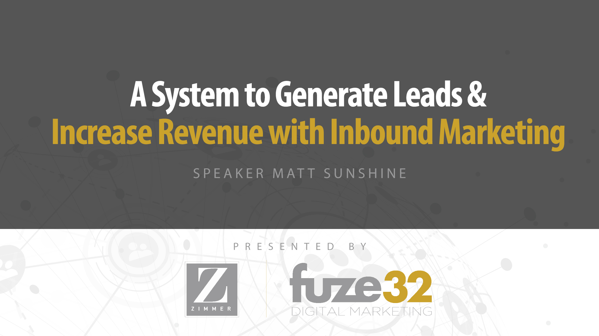 5 Reasons To Attend Our Inbound Seminar,